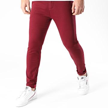 LBO - Pantalon Chino Skinny 1445 Bordeaux