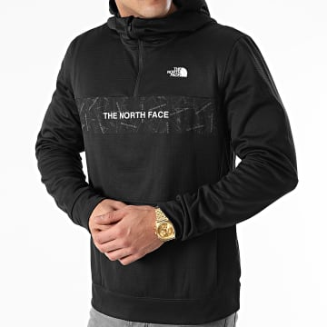 The North Face - Sweat Col Zippé Capuche A4M9X Noir