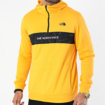 The North Face - Sweat Col Zippé Capuche A4M9X Jaune
