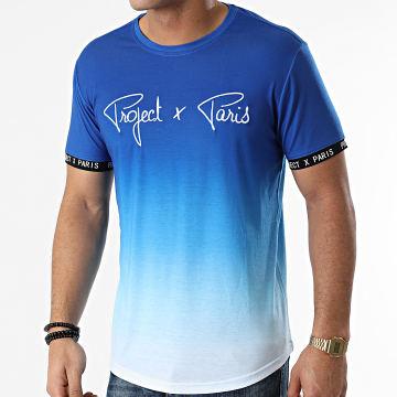 Project X Paris - Tee Shirt 2010089 Bleu Roi Blanc Dégradé