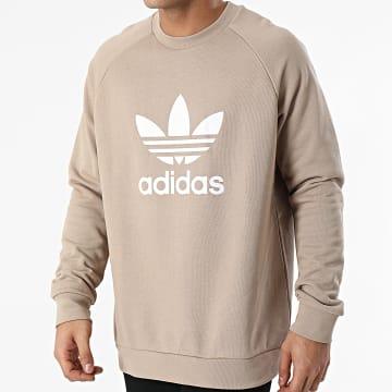 Adidas Originals - Sweat Crewneck Trefoil Warm-up GD9927 Beige