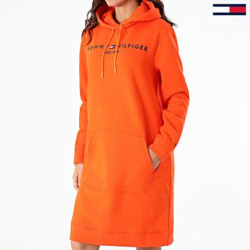 Tommy Hilfiger - Robe Sweat Capuche Femme Essential 0061 Orange
