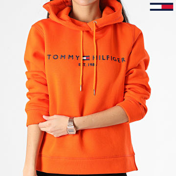Tommy Hilfiger - Sweat Capuche Femme Essential 1279 Orange