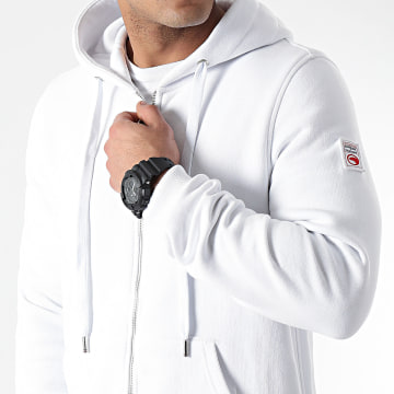 Compagnie de Californie - Sweat Zippé Capuche New Cupertino Blanc