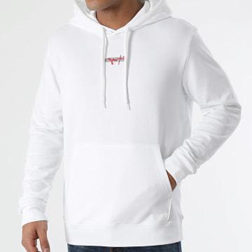 HUGO - Sweat Capuche Reverse Logo Doley 50443805 Blanc