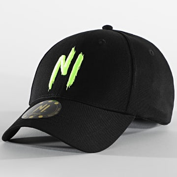 NI by Ninho - Casquette 001 NI Logo Noir Jaune Fluo