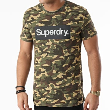 Superdry - Tee Shirt Camouflage Classic M1010547A Vert Kaki