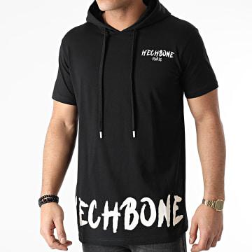 Hechbone - Tee Shirt Capuche 3000 Noir