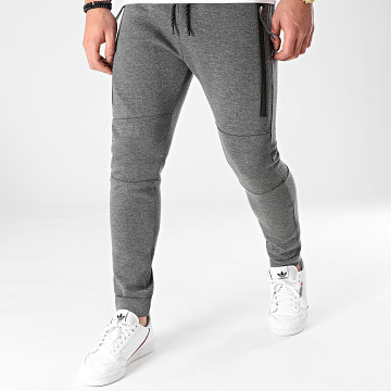 LBO - Pantalon Jogging 1331 Gris Anthracite Chiné