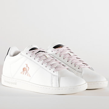 Le Coq Sportif - Baskets Femme Courtset Patent 2110126 Optical White Rose Gold