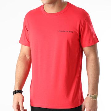Calvin Klein - Tee Shirt Back Monogram 9223 Rouge