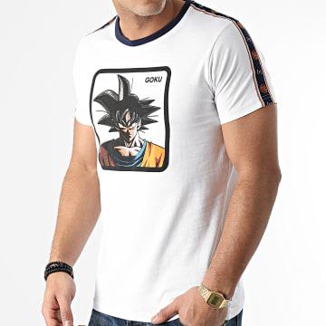 Capslab - Tee Shirt A Bandes Goku Blanc