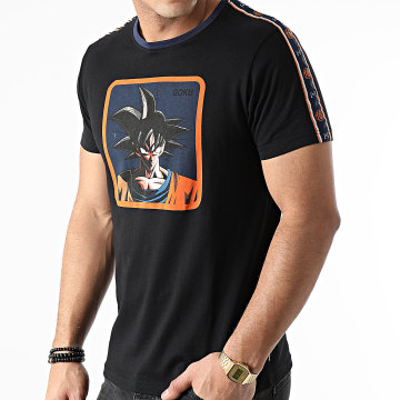 Capslab - Tee Shirt A Bandes Goku Noir