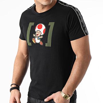 Capslab - Tee Shirt A Bandes TOD2 Noir