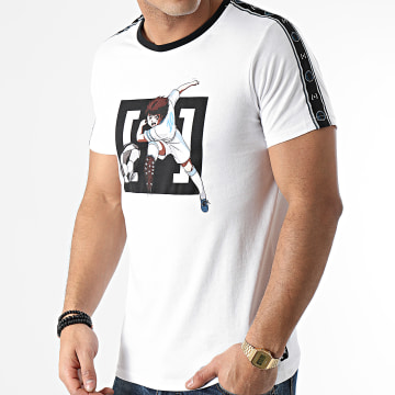 Capslab - Tee Shirt A Bandes TSU1 Blanc