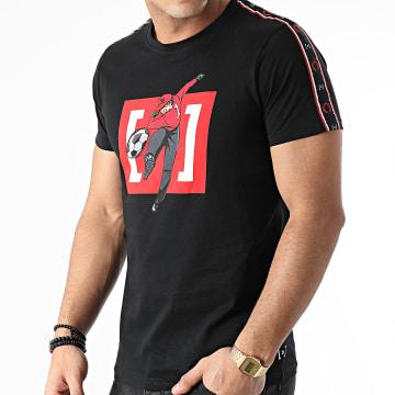 Capslab - Tee Shirt A Bandes GEN1 Noir