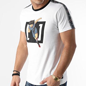 Capslab - Tee Shirt A Bandes KOJ1 Blanc
