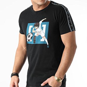 Capslab - Tee Shirt A Bandes TSU2 Noir