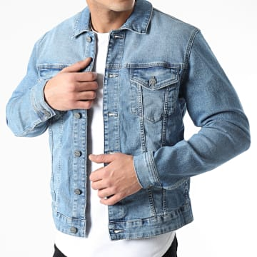 Only And Sons - Veste Jean Come Trucker Bleu Denim