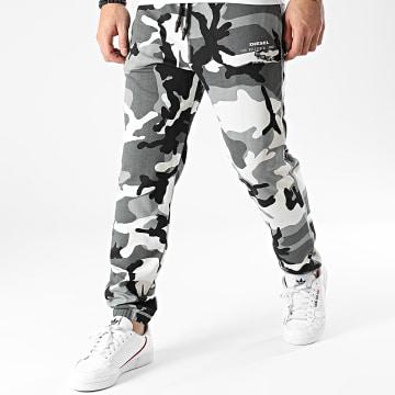 Diesel - Pantalon Jogging Peter 00ST1N-0ICAT Gris Camouflage
