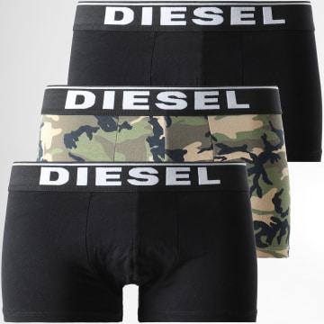 Diesel - Lot De 3 Boxers Damien 00ST3V-0WBAE Noir Vert Kaki Camouflage