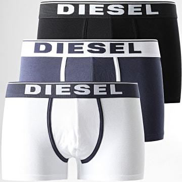 Diesel - Lot De 3 Boxers Damien 00ST3V-0JKKC Noir Blanc Bleu Marine