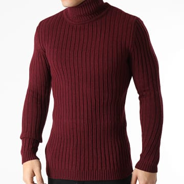 Ikao - Pull Col Roulé LL180 Bordeaux