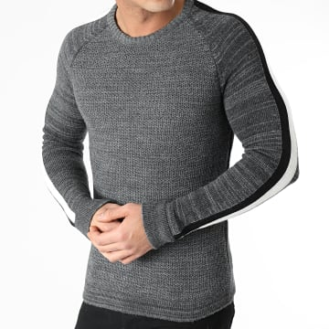 Ikao - Pull A Bandes F597 Gris Anthracite