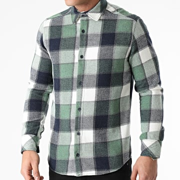 Ikao - Chemise Manches Longues A Carreaux LL238 Vert