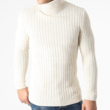 Ikao - Pull Col Roulé LL180 Beige