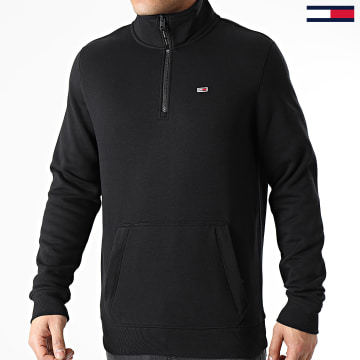 Tommy Jeans - Sweat Col Zippé Detail Mock Neck 9785 Noir