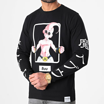 Dragon Ball Z - Tee Shirt Manches Longues Selfie Buu 2 Noir