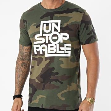 Kozi - Tee Shirt Unstoppable Camo Vert Kaki