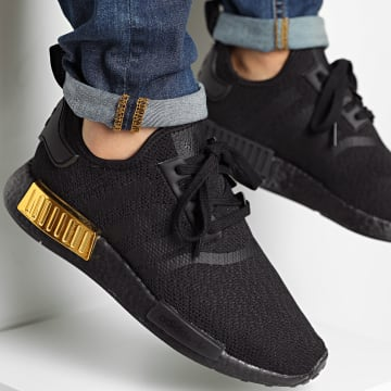 Adidas Originals - Baskets NMD_R1 FV1787 Core Black Core Black Gold Metal