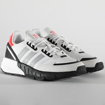 Adidas Originals - Baskets Femme ZX 1K Boost FX6641 Crystal White Metallic Core Black