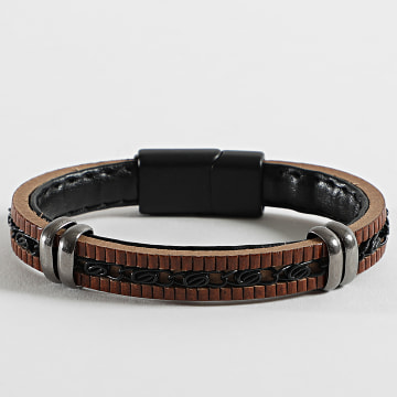 Black Needle - Bracelet BBN-305 Marron