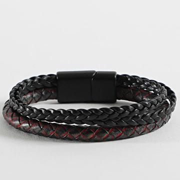 Black Needle - Bracelet BBN-310 Noir Rouge
