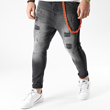 Classic Series - Jean Skinny DH-3283-1 Gris Anthracite