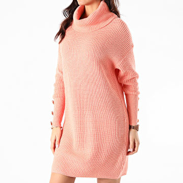 Girls Only - Robe Pull Femme Col Roulé AW212 Orange Corail