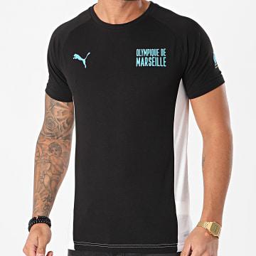 Puma - Tee Shirt OM Evostripe 758641 Noir Blanc