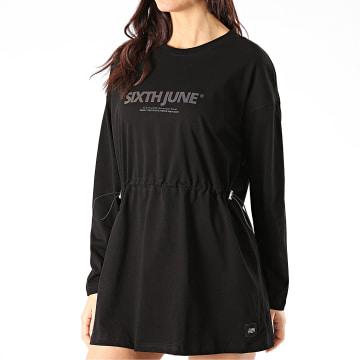 Sixth June - Robe Sweat Femme Réfléchissant W32826KDR Noir