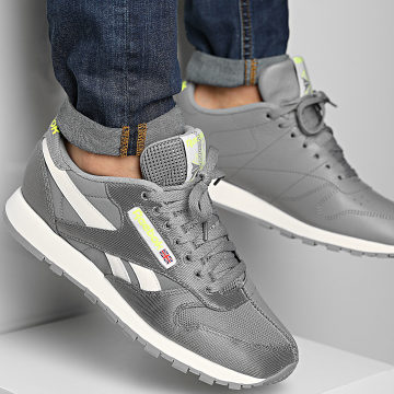 Reebok - Baskets Classic Leather FY7550 Spacer Grey Classic White Yellow Flare
