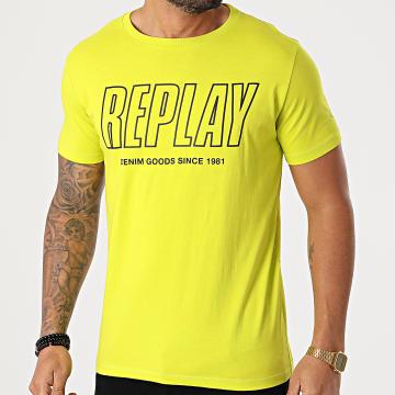 Replay - Tee Shirt M3395 Jaune Fluo