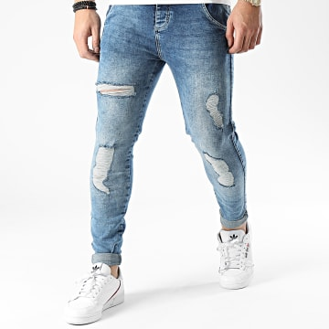 SikSilk - Jean Skinny Distressed SS-19354 Bleu Denim