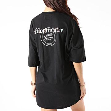 Sixth June - Robe Tee Shirt Femme W32721ETS Noir