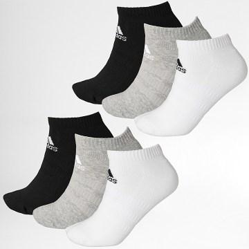 Adidas Performance - Lot De 6 Paires De Chaussettes DZ9380 Noir Blanc Gris Chiné