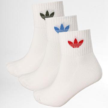 Adidas Originals - Lot De 3 Paires De Chaussettes GN3083 Blanc