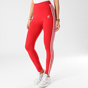 Adidas Originals - Legging Femme A Bandes 3 Stripes GN8076 Rouge