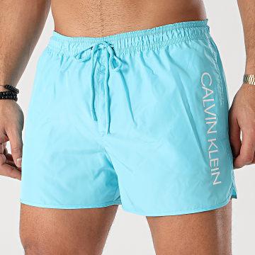 Calvin Klein - Short De Bain Short Runner 0266 Bleu Turquoise