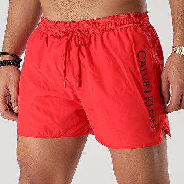 Calvin Klein - Short De Bain Short Runner 0266 Rouge